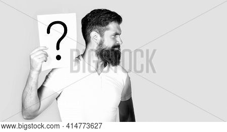 Man Question. Male With Question Marks. Getting Answers. Question Mark, Symbol. Concept - Challengin