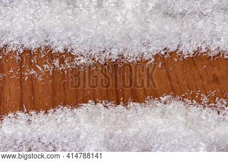 Monosodium Glutamate On Wooden Background, Msg For Food Seasoning