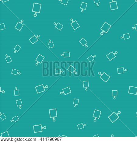 White Cutting Board Icon Isolated On Grey Background. Chopping Board Symbol. Square Glass Panels. Ve