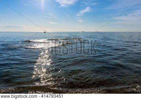 The Glittering Glare Of The Sun On The Water. The Sea Before Sunset.