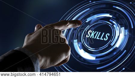 Internet, Business, Technology And Network Concept.coach Motivation To Skills Improvement. Education