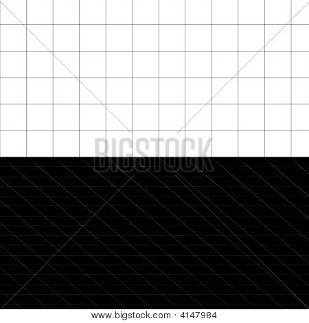3D Black And White Grid