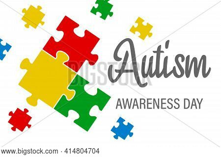 World Autism Awareness Day. The Concept Of Autism Awareness For The Design Of Banners, Flyers, Poste
