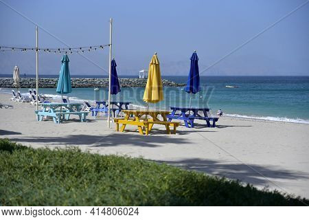 Radisson Blu Beach Resort, Dibba, Al Fujairah, United Arab Emirates March 21, 2021, View Of Beach An