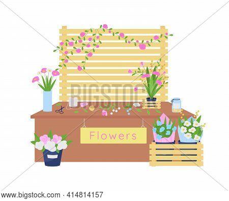 Florist Workshop 2d Vector Web Banner, Poster