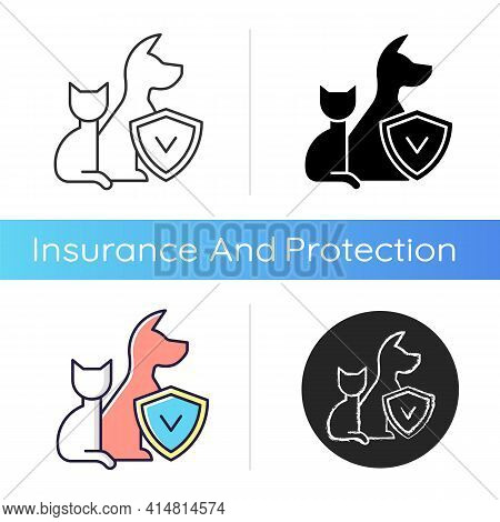 Pet Insurance Icon. Pet-care Policy. Accident And Illness Plan. Exorbitant Vet Bills Coverage. Payme