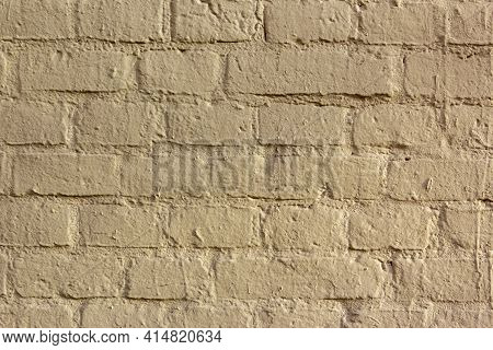 Abstract Yellow Color Brick Wall Texture For Background. Textured Background Illustration. Abstract