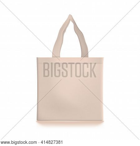 3d Eco Friendly Beige Shopping Tote Bag