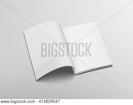 3d Clear Open Horizontal Catalog Or Magazine