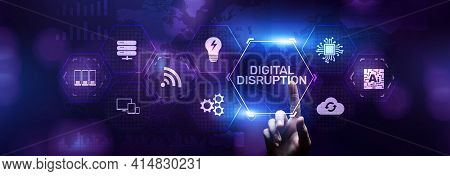 Digital Disruption Transformation Digitalization Innovation Technology Business Concept