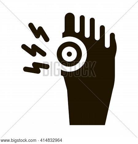 Arthritis Of Bone On Foot Glyph Icon Vector. Arthritis Of Bone On Foot Sign. Isolated Symbol Illustr