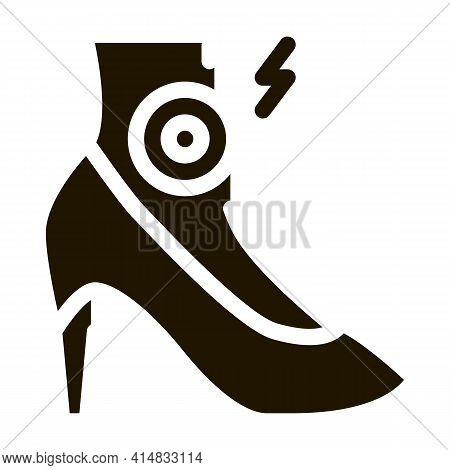 Arthritis Legs In Heels Glyph Icon Vector. Arthritis Legs In Heels Sign. Isolated Symbol Illustratio