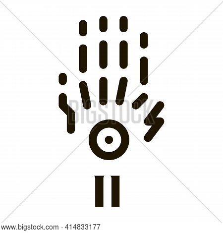Arthritis Of Wrist Glyph Icon Vector. Arthritis Of Wrist Sign. Isolated Symbol Illustration