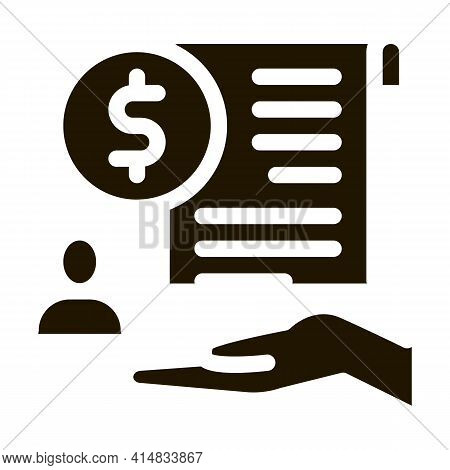 Cash Purchase Agreement Glyph Icon Vector. Cash Purchase Agreement Sign. Isolated Symbol Illustratio