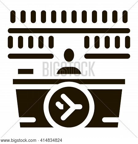 Appearance Of Duty Free Counter Glyph Icon Vector. Appearance Of Duty Free Counter Sign. Isolated Sy