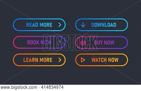 Set Of Trendy Action Button For Web, Mobile App.template Navigation Button Menu. Read More, Download