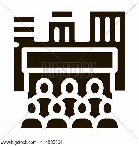 People Tourists On Excursions Glyph Icon Vector. People Tourists On Excursions Sign. Isolated Symbol
