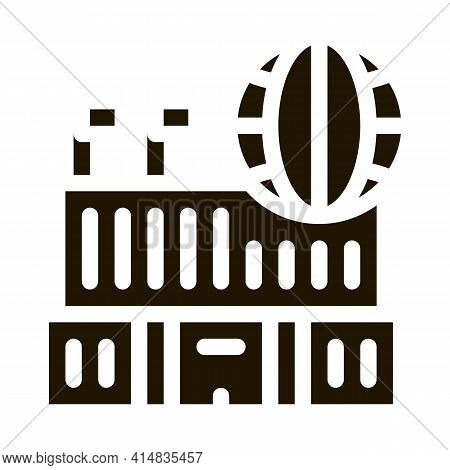 Different Countries To Visit Glyph Icon Vector. Different Countries To Visit Sign. Isolated Symbol I