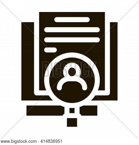 Employee Renewal Glyph Icon Vector. Employee Renewal Sign. Isolated Symbol Illustration