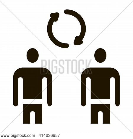 Collective Interview Glyph Icon Vector. Collective Interview Sign. Isolated Symbol Illustration