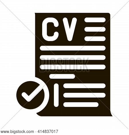 Applicants For One Job Glyph Icon Vector. Applicants For One Job Sign. Isolated Symbol Illustration