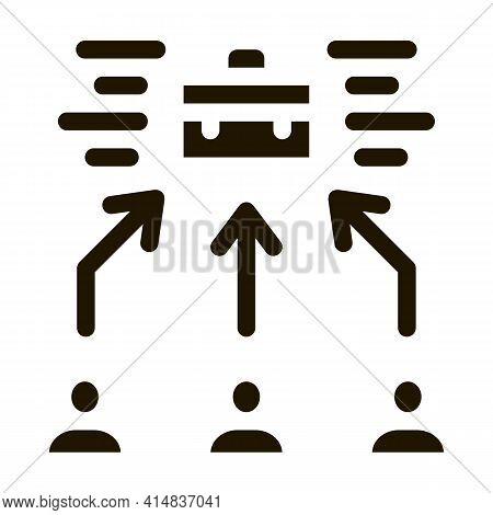 Female Job Applicant Glyph Icon Vector. Female Job Applicant Sign. Isolated Symbol Illustration