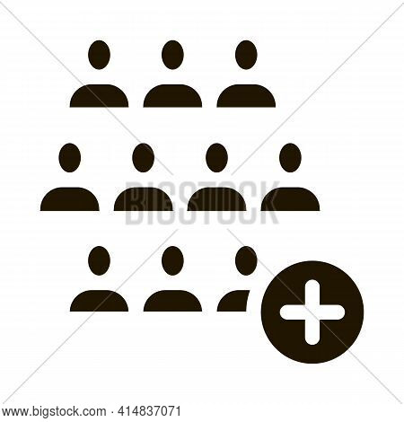 Selection Of New Employee Man Glyph Icon Vector. Selection Of New Employee Man Sign. Isolated Symbol