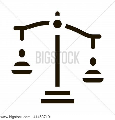 Employment Scales Of Justice Glyph Icon Vector. Employment Scales Of Justice Sign. Isolated Symbol I