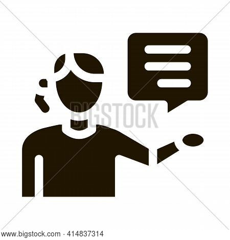 Help Desk Representative Glyph Icon Vector. Help Desk Representative Sign. Isolated Symbol Illustrat
