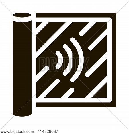 Degree Of Audibility Glyph Icon Vector. Degree Of Audibility Sign. Isolated Symbol Illustration