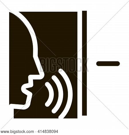 Sound Coming From Person Glyph Icon Vector. Sound Coming From Person Sign. Isolated Symbol Illustrat