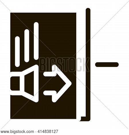 Sound Speaker Operation Glyph Icon Vector. Sound Speaker Operation Sign. Isolated Symbol Illustratio