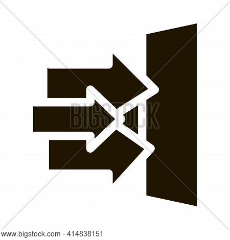 Sound Obstacle Glyph Icon Vector. Sound Obstacle Sign. Isolated Symbol Illustration