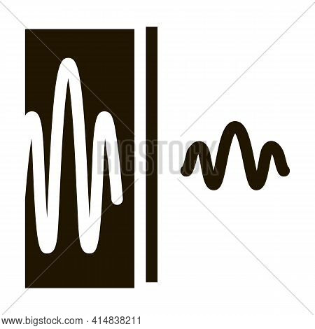 Sound And Silence Glyph Icon Vector. Sound And Silence Sign. Isolated Symbol Illustration