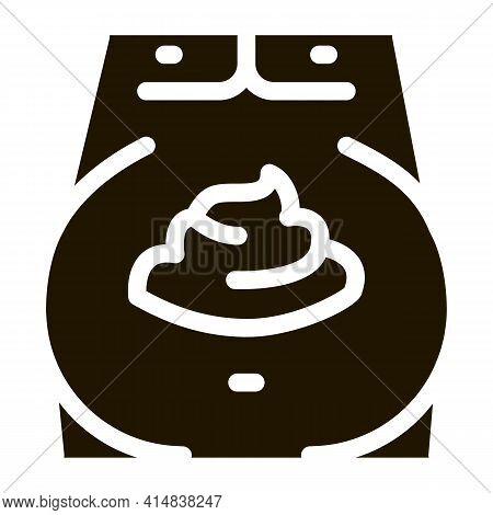 Mayonnaise Obesity Glyph Icon Vector. Mayonnaise Obesity Sign. Isolated Symbol Illustration