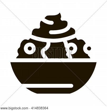 Mayonnaise Salad Glyph Icon Vector. Mayonnaise Salad Sign. Isolated Symbol Illustration