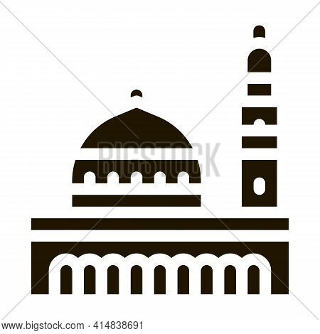 Muslim Holy City Glyph Icon Vector. Muslim Holy City Sign. Isolated Symbol Illustration