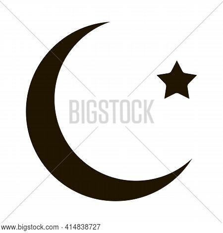 Special Lunar Year Of Hajj Glyph Icon Vector. Special Lunar Year Of Hajj Sign. Isolated Symbol Illus