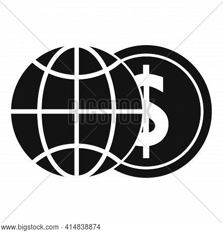 Global Money Broker Icon. Simple Illustration Of Global Money Broker Vector Icon For Web Design Isol