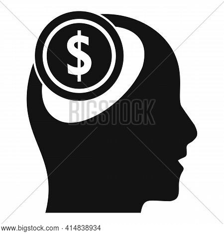 Broker Money Idea Icon. Simple Illustration Of Broker Money Idea Vector Icon For Web Design Isolated
