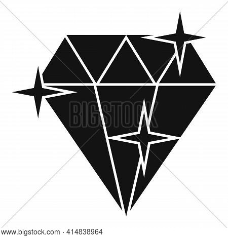 Shiny Diamond Icon. Simple Illustration Of Shiny Diamond Vector Icon For Web Design Isolated On Whit