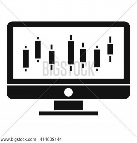 Broker Monitor Icon. Simple Illustration Of Broker Monitor Vector Icon For Web Design Isolated On Wh
