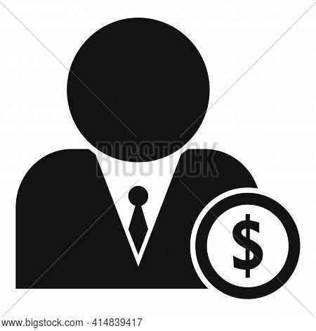 Dollar Money Broker Icon. Simple Illustration Of Dollar Money Broker Vector Icon For Web Design Isol
