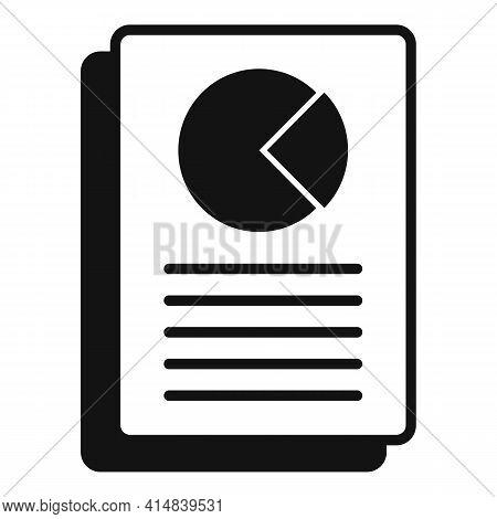 Broker Pie Chart Paper Icon. Simple Illustration Of Broker Pie Chart Paper Vector Icon For Web Desig