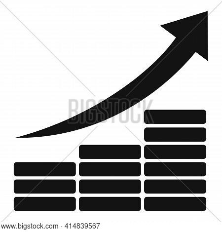 Up Broker Chart Icon. Simple Illustration Of Up Broker Chart Vector Icon For Web Design Isolated On