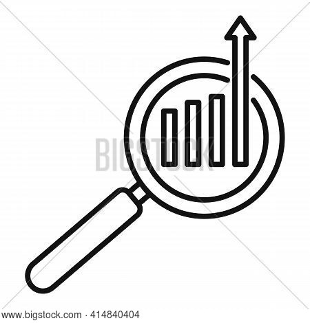 Search Broker Trade Icon. Outline Search Broker Trade Vector Icon For Web Design Isolated On White B