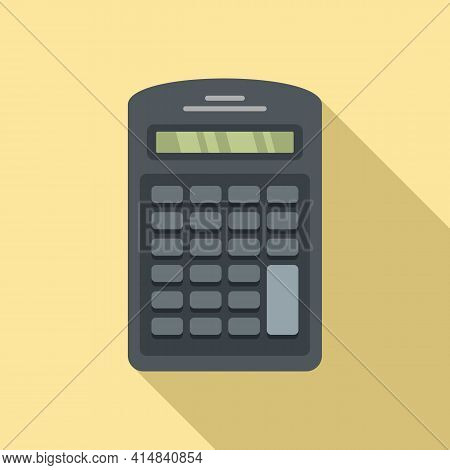 Finance Calculator Icon. Flat Illustration Of Finance Calculator Vector Icon For Web Design