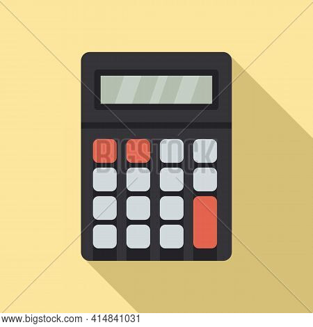 Algebra Calculator Icon. Flat Illustration Of Algebra Calculator Vector Icon For Web Design