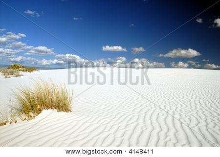 A beautiful day at White Sands National Monument. poster