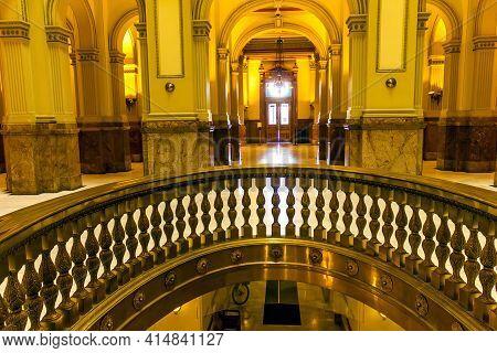Denver,co - September 10,2019:the Interior Of The Capitol Building In Denver, Colorado,united States